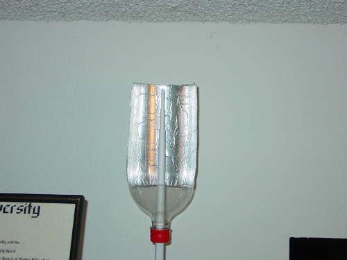 refletor materiais reciclados